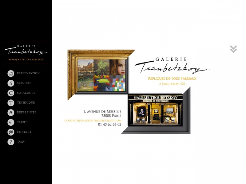 Galerie Troubestkoy - Paris 8e