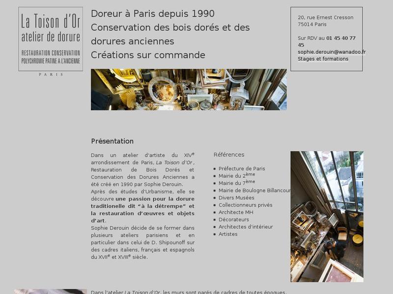 La Toison d'Or - Sophie Derouin - Paris 14e