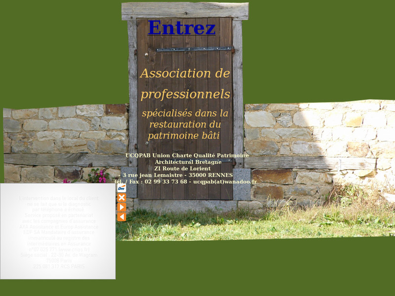 UCQPAB - Union Charte Qualité Patrimoine Architectural Bretagne - www.ucqpab.com