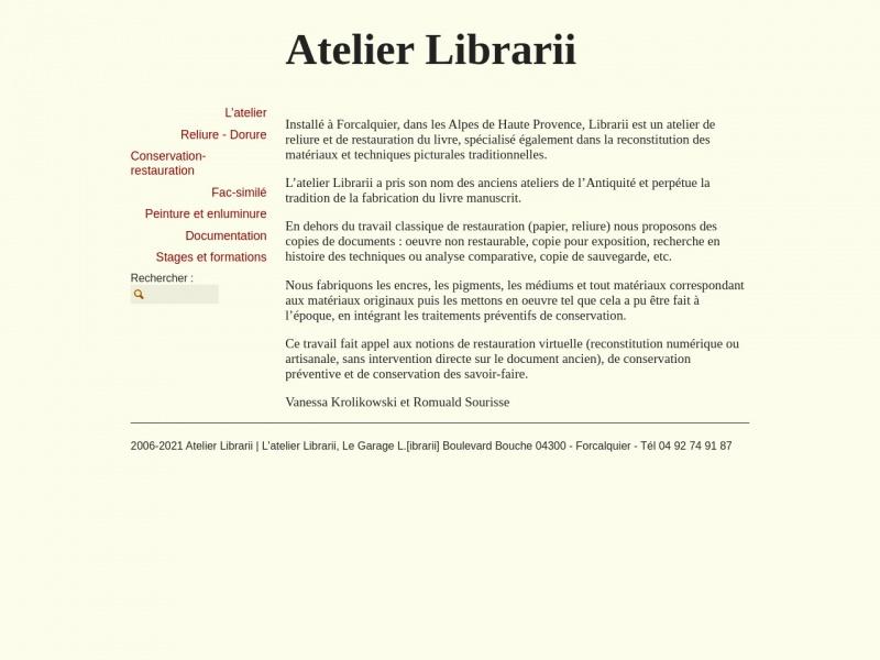Atelier Librarii - Garage L - Forcalquier