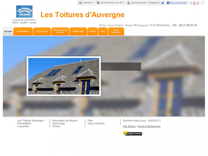 Les Toitures d'Auvergne - Montsalvy