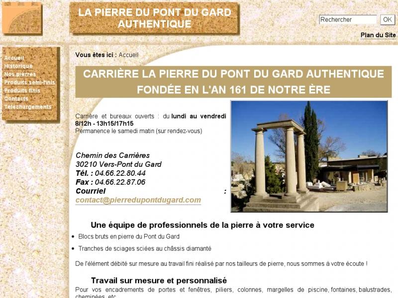 La Pierre du Pont du Gard Authentique - Vers Pont du Gard