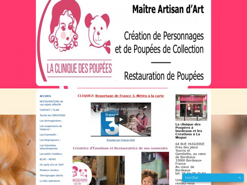 La Clinique des Poupées - Fabienne Mogue - Bordeaux