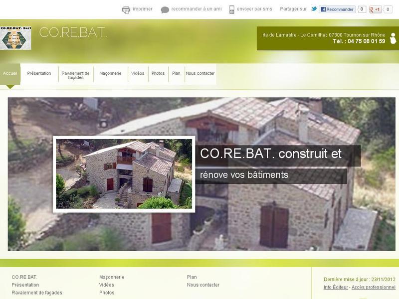 CO.RE.BAT. SARL - Tournon sur Rhône
