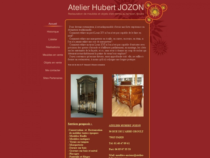 Atelier Hubert Jozon - Paris 15e