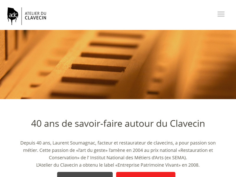 Atelier du Clavecin - Laurent Soumagnac - Chaumont en Vexin