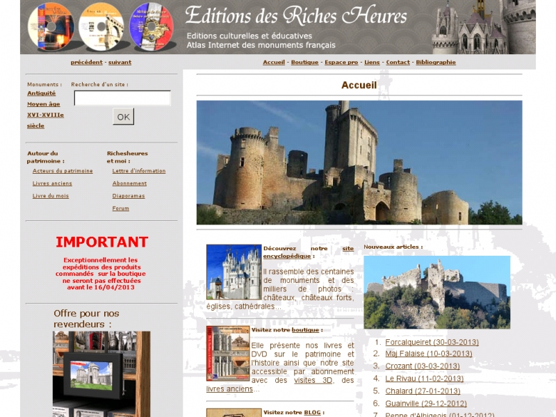 Editions des Riches Heures - www.richesheures.net