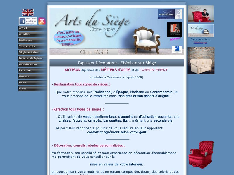 Arts du Siège - Claire Pagés - Carcassonne
