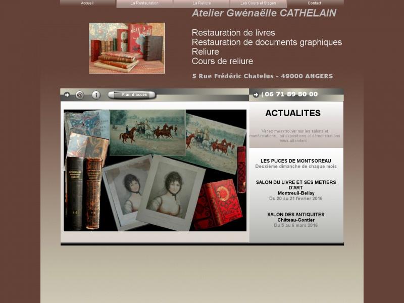 Atelier Gwénaëlle Cathelain - Angers