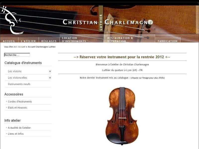 Christian Charlemagne - www.charlemagne-luthier.com