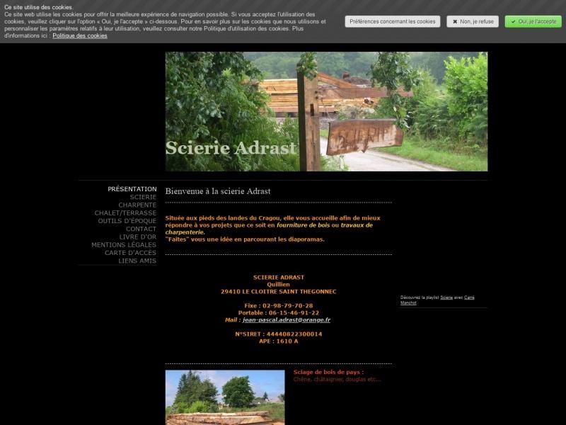 Scierie Adrast - Le Cloître Saint Thégonnec