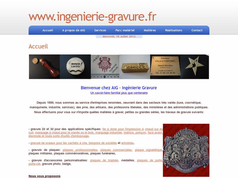 AIG - Arniaud Ingeniérie Gravure - Paris 3e