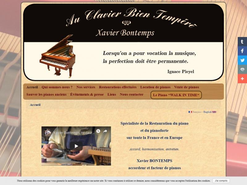 Au Clavier Bien Tempéré - Xavier Bontemps - Omet