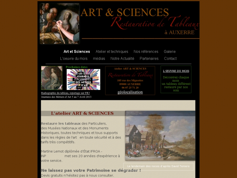 Atelier Art et Sciences - Martine Lemot - Auxerre