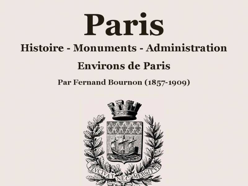 Fernand Bournon - Histoire de Paris - Paris 1er