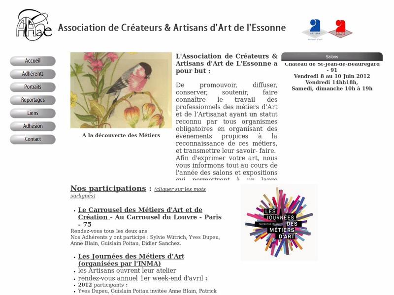 ACAAE - Association de Créateurs et Artisans d'Art de l'Essonne - Oncy sur Ecole