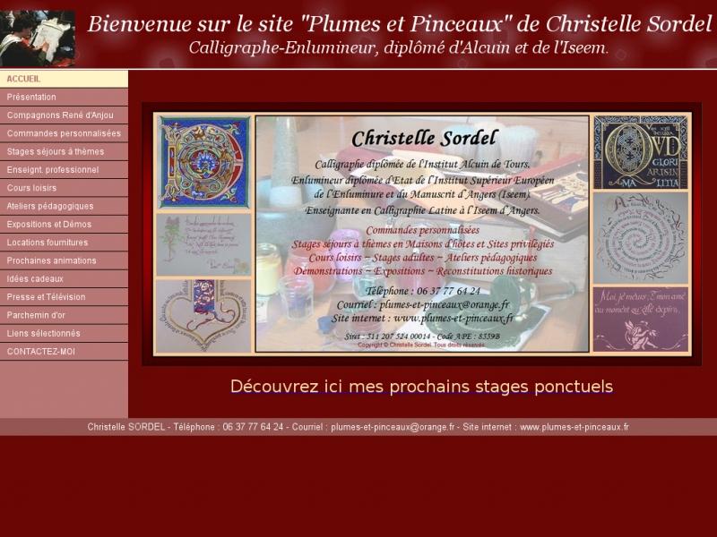 Christelle Sordel - Plumes et Pinceaux - Grez Neuville