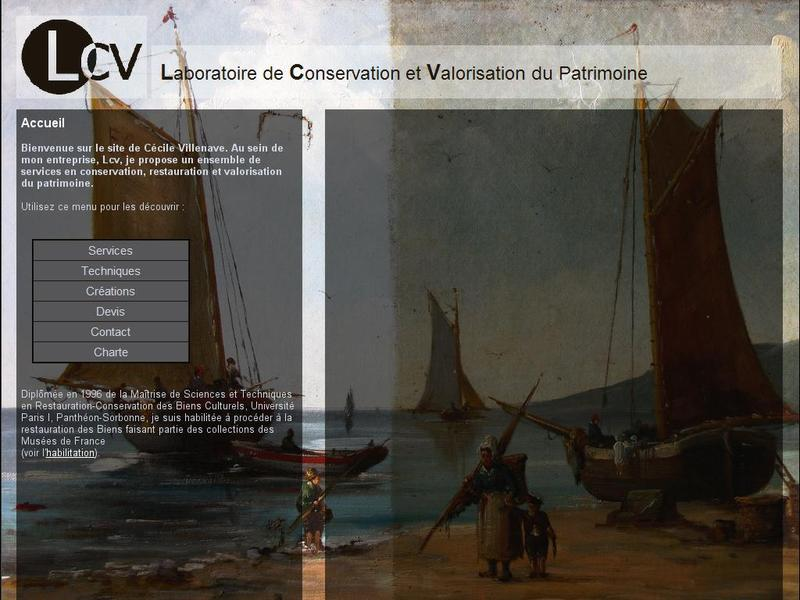 Laboratoire de Conservation et Valorisation du Patrimoine - LCV - Ger