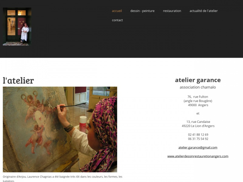 Atelier Garance - Laurence Chagnias - Le Lion d'Angers