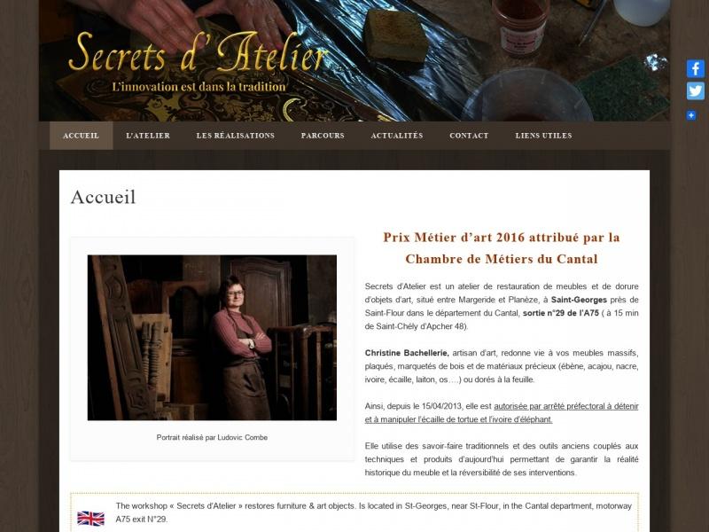 Secrets d'Atelier - Christine Bachellerie - Saint Georges