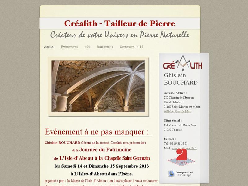 Créalith - Ghislain Bouchard - Tossiat