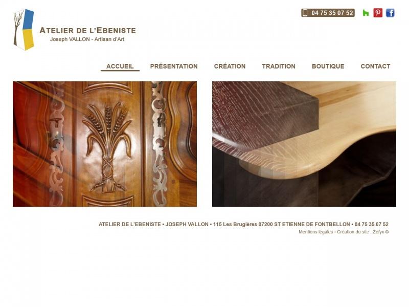 L'Atelier de l'Ebeniste - Joseph Vallon - Saint Etienne de Fontbellon