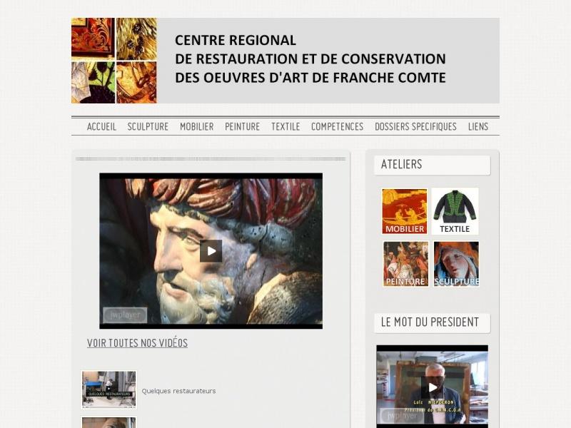 Centre de Restauration des Oeuvres d'Art - CRRCOA - Vesoul