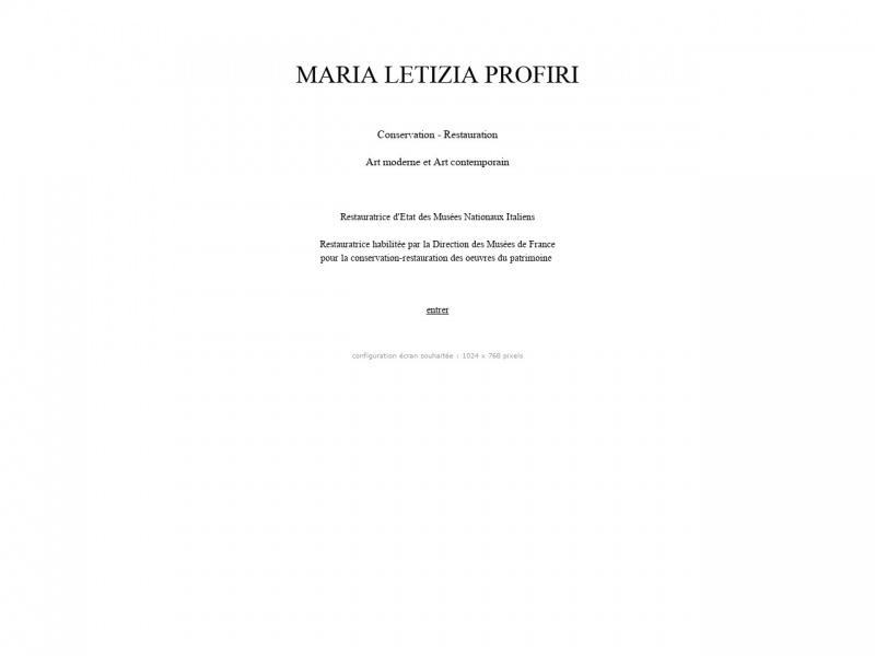 Maria Letizia Profiri - Paris 15e