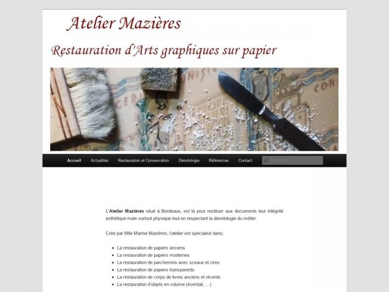 Atelier Marine Mazières - Bordeaux
