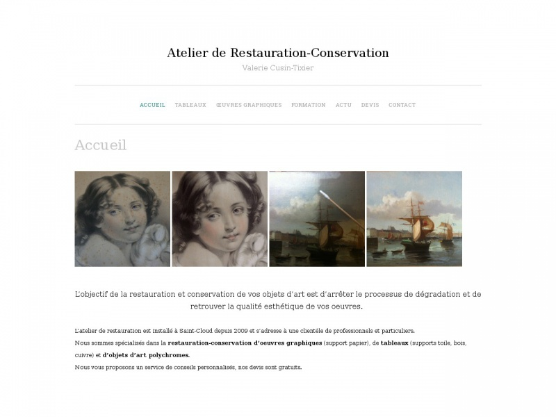 Atelier de Restauration Valerie Cusin Tixer - Saint Cloud