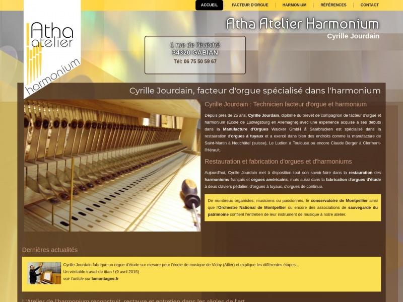 Cyrille Jourdain - Atelier de l'Harmonium - Saint Pargoire