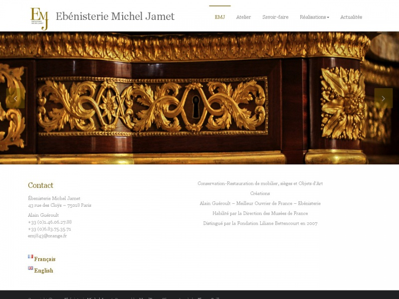 Michel Jamet - ebenisteriemicheljamet.fr