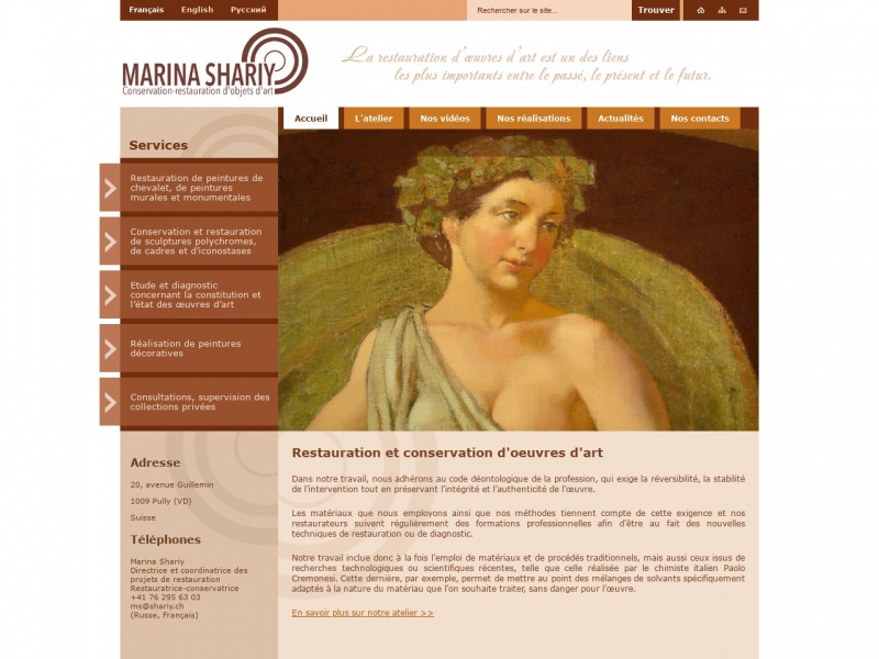 Marina Shariy - Atelier IGMA - Gland