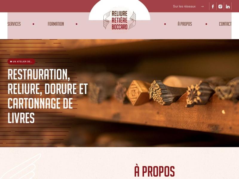 Reliure Retière Boccard - Dijon