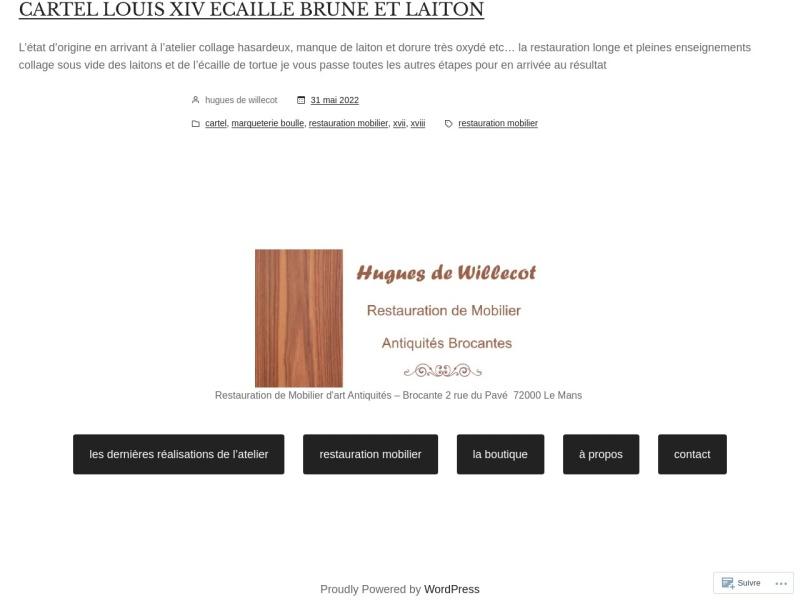 Hugues de Willecot - Le Mans