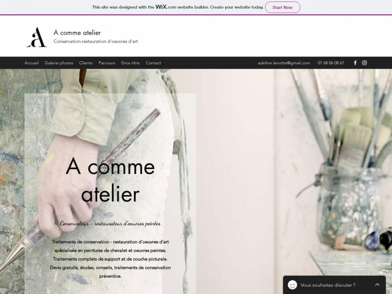 A Comme Atelier - Adeline Lenotte - Aix en Provence