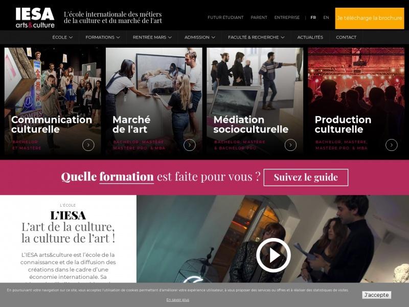 Iesa - Institut d'Etudes Supérieures des Arts - Paris 1er