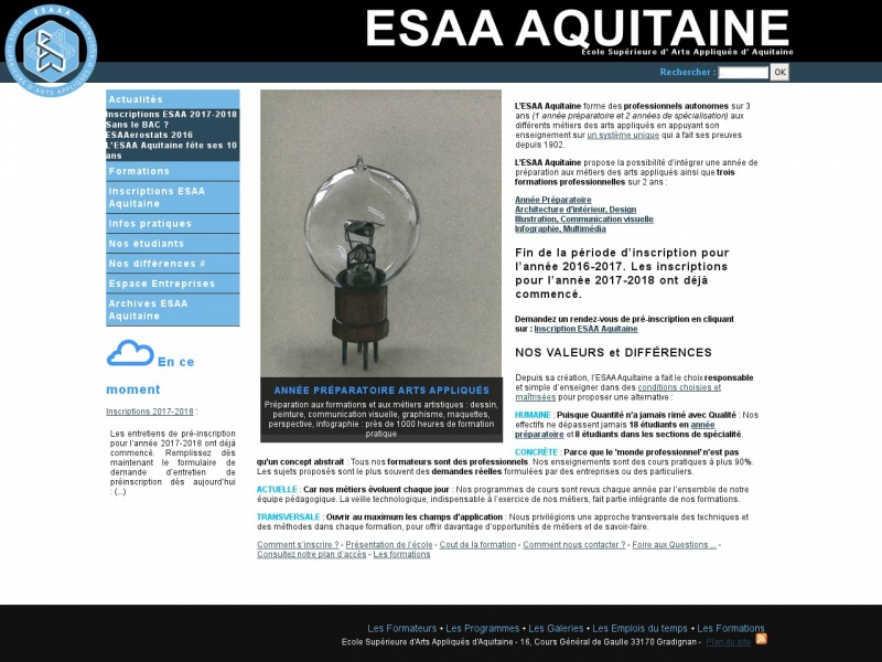 ESAA - Ecole Supérieure d'Arts Appliqués d'Aquitaine - Gradignan