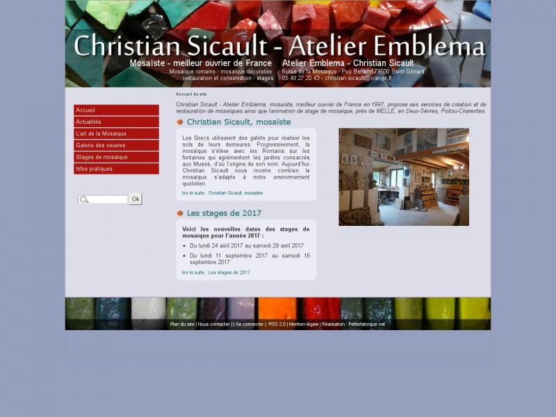 Christian Sicault - Atelier Emblema - Saint Génard