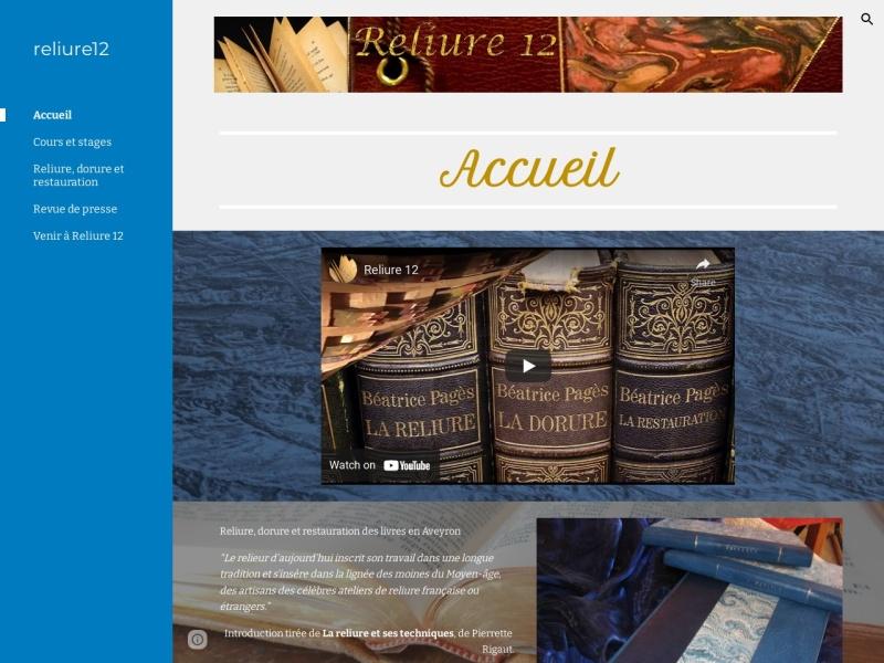 Reliure 12 - Béatrice Pagès - Bor et Bar