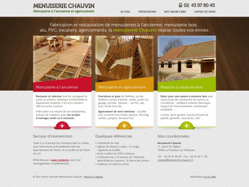 Menuiserie Chauvin - La Fresnaye sur Chedouet