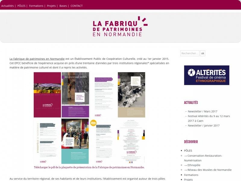 La Fabrique de Patrimoines en Normandie - Caen