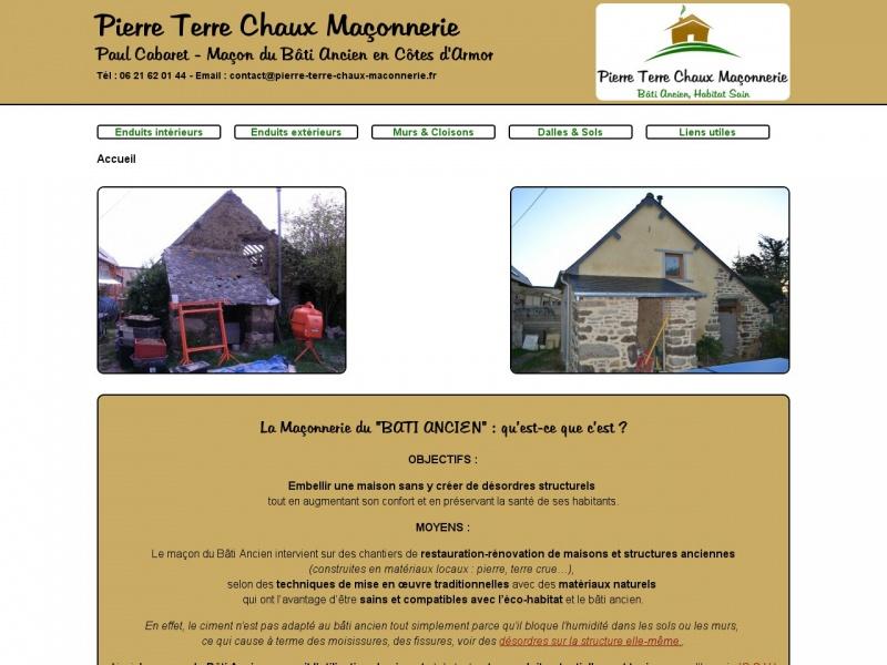 Pierre Terre Chaux Maçonnerie - Paul Cabaret - Planguenoual