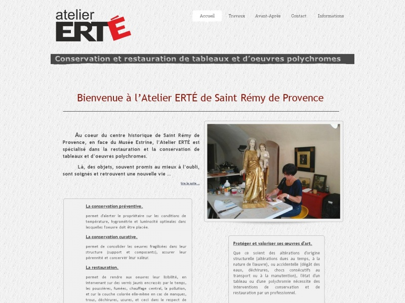 Atelier Erté - Evelyne Rettmeyer - Saint Rémy de Provence