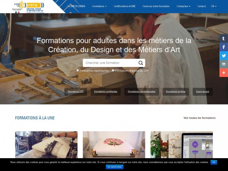GRETA de la Création, du Design et des Métiers d'Art - www.cdma.greta.fr