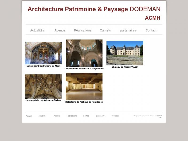 Architecture Patrimoine et Paysage Dodeman - Villebois Lavalette