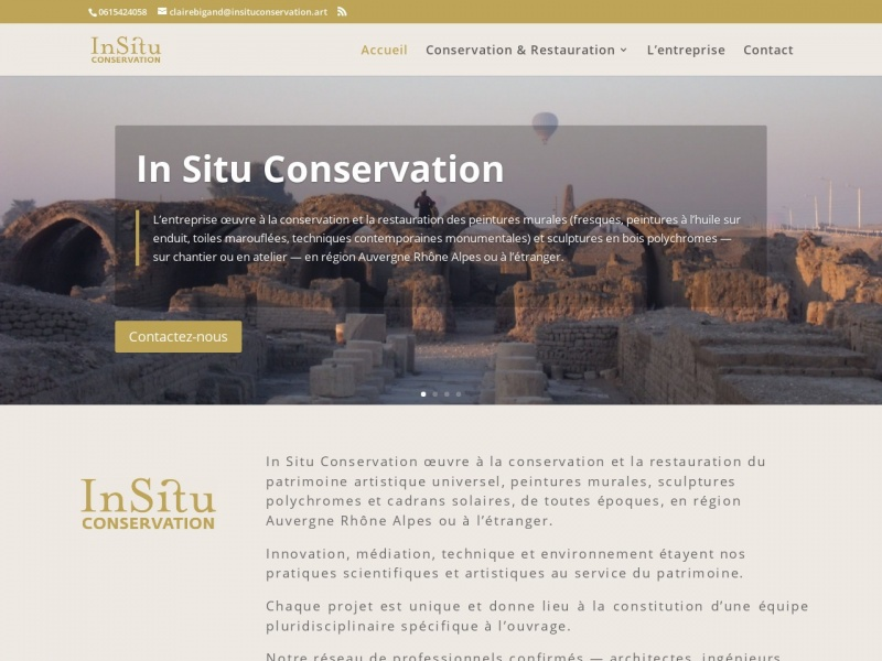 In Situ Conservation - Claire Bigand - insituconservation.art